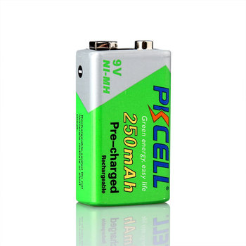 Hot sale PKCELL nimh battery 9v 250mAh aa aaa rechargeable battery