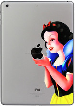 Hot Selling New Style Cartoon Princess Snow White mermaid Clear TPU back cases for iPad Air 2