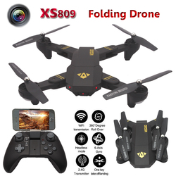 Tianqu Visuo XS809W FPV Pocket Drone 2.4G 6Axis G-sensor RC Quadcopter Drone RTF 2MP Wifi FPV Camera HD Altitude Hold Helicopter