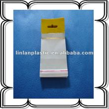 opp plastic bag header with butterfly hole