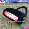 7 led flash rear waterproof mountain silicone rubber bike light