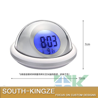 UFO Shape Acrylic Plastic LED Lighting Advanced Tech Force Sensing Digital Alarm Clock