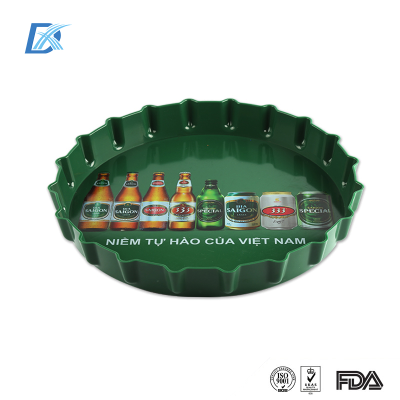 Factory Directly Supply Custom Wholesale Plastic Beer Serving Tray