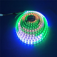 4M 5V 60Leds/M 240pixels programmable WS2812B RGB 5050 LED strip Individually addressable dream color Waterproof IP67 PCB Black