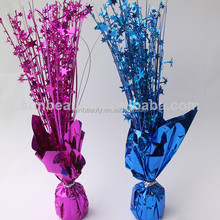 Metallic Wrapped Balloon Weight and Centerpiece, Balloon Weight