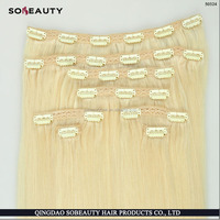 100% top selling high quality cheap price 120G 100% remy hair white clip in hair extension
