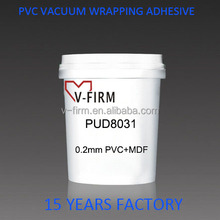 Water Based 0.2MM PVC Vacuum Membrane Press Adhesive