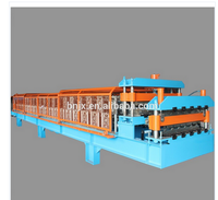China Manufacturer Full Automatic Steel Profile Glazed Tile & IBR Corrugated Double Layer Roof Panel Cold Roll Forming Machine