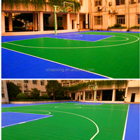 SUGE Outdoor Interlocking Plastic Flooring For Basketball Court