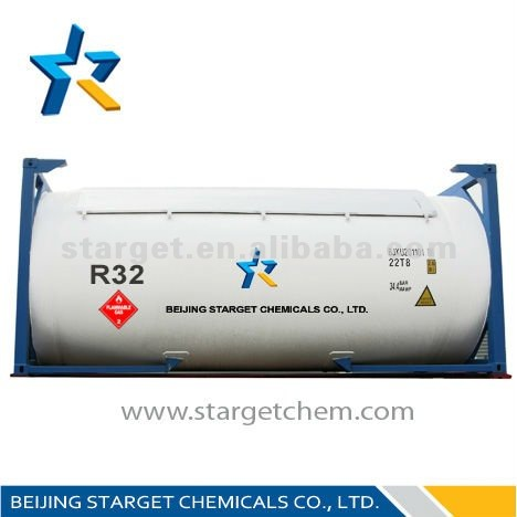 Difluoromethane Cryogenic Refrigeration Mixed HFC Refrigerant R32 With 99.90% Purity