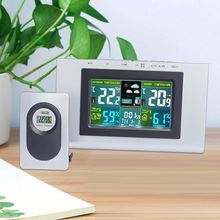 Personalized LED RF 433MHZ Wireless Weather Alarm Station Clock