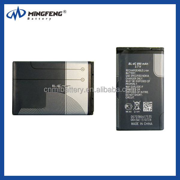industrial rechargeable batteries BL-4C for nokia 1202 1203 1265 1325 1506 1508 1661 1662
