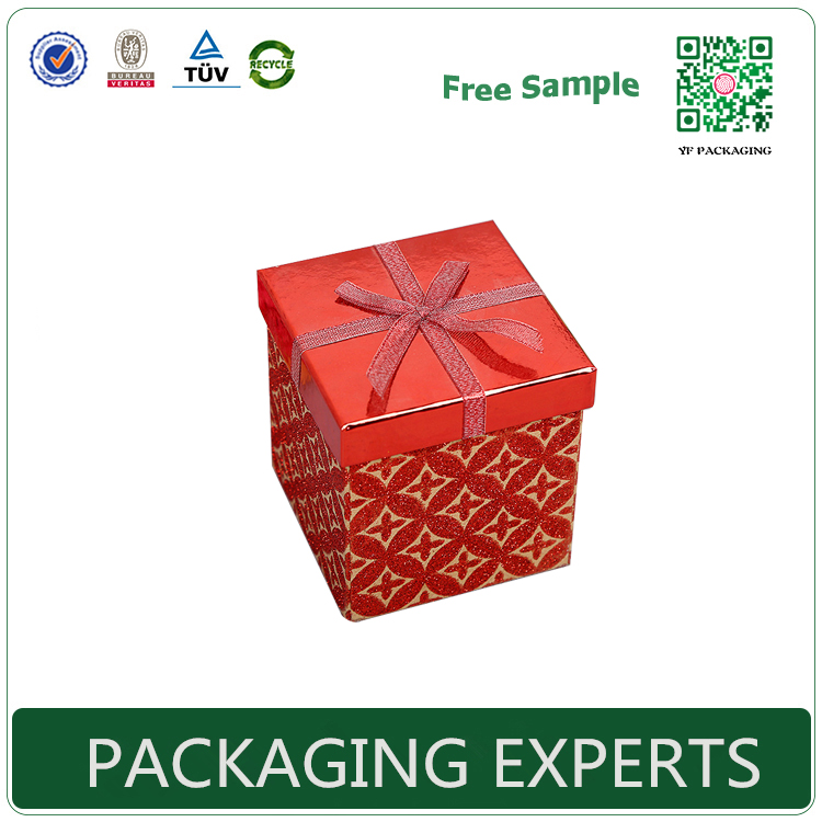 Hot Selling Promotion recycled christmas gift packaging box with hat