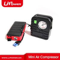 12v mini air compressor tyre inflator air pump fro portable car jump starter