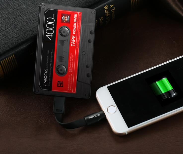 Radio cassette shape power bank for promotion 4000mah power bank