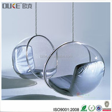 New design modern furniture acrylic / plastic hanging bubble chair