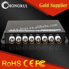 8 channel hd cvi/ahd/tvi media converter for video transmission device