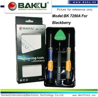 BAKU Screwdriver,tweezer,plastic triangle picker, mobile phone opening tools for blackberry (BK-7290 opening tools )