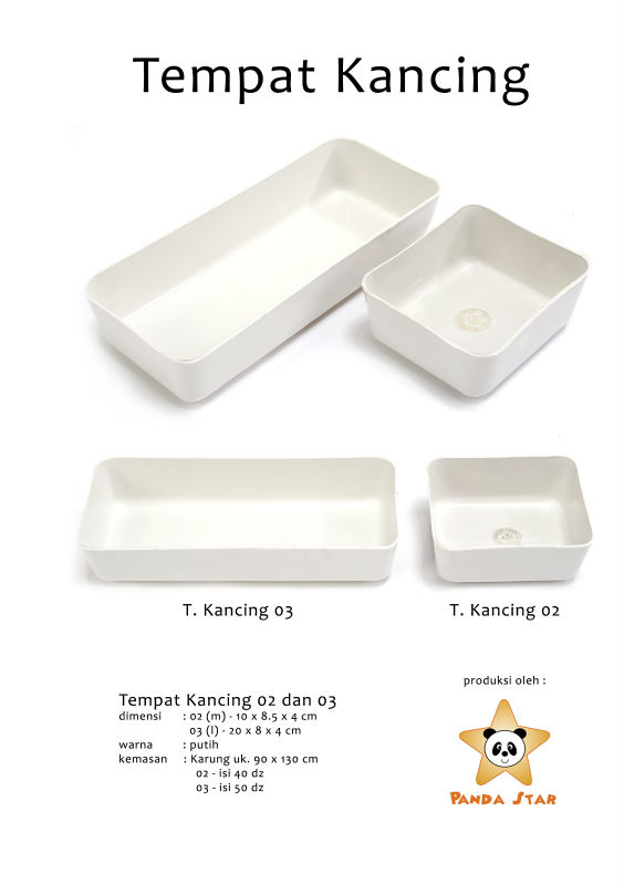 Small plastic storage container white color