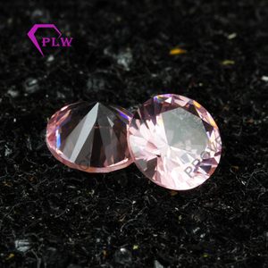 Round Gems Beads Pink color synthetic Morganite Prices Wholesale