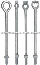 Galvanized anchor rod with screw bolt welding and stamping anchor parts