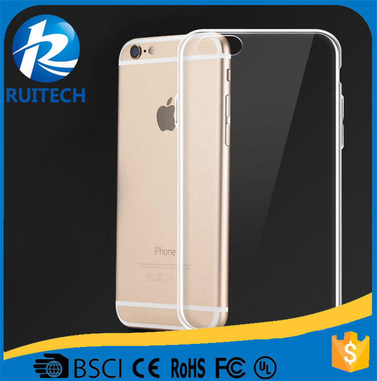 New arrived 0.3mm slim ultra thin transparent TPU case for iphone 6, 4.7 inch TPU clear back cover
