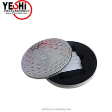 Hot sale round tin CD DVD packing tin case