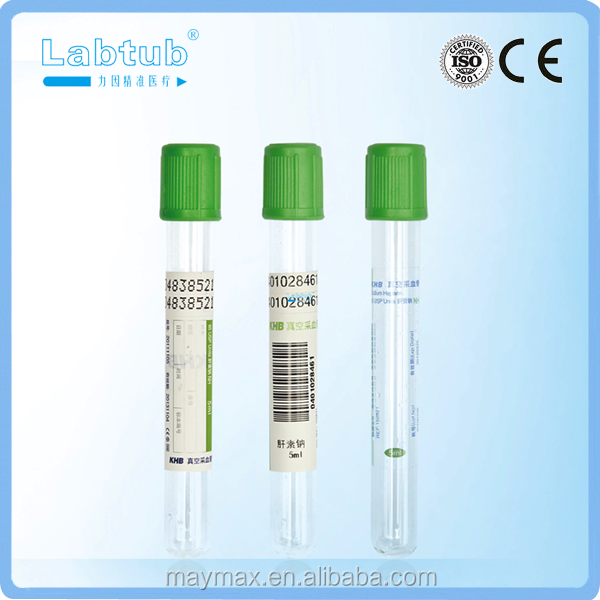Lithium Heparin vacuum blood collection tube (high quality vacutainer)
