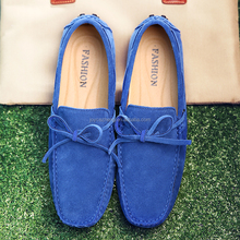 Wholesale OEM slip-on large size men leather loafer shoes,cow suede driving shoes