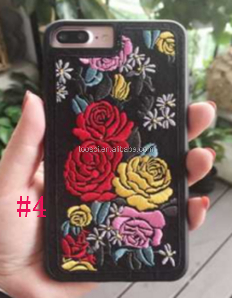 New Design Flower Bird Embroidery Phone Case For Iphone