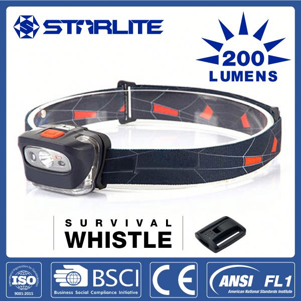 STARLITE cree led survival whistle function mining lamp in headlight