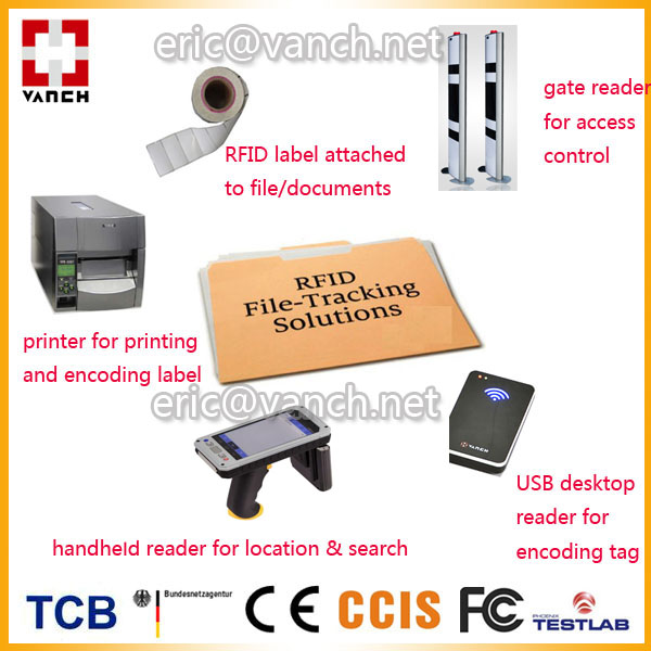 uhf rfid reader tag based management system for court file tracking inventory