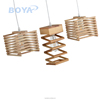 French Style Linear Spiral Pendant Light
