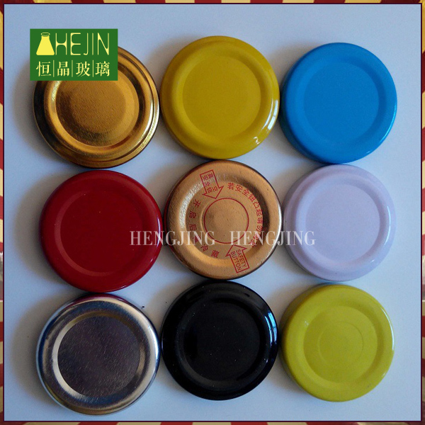 82mm decorative metal twist off caps for glass jars