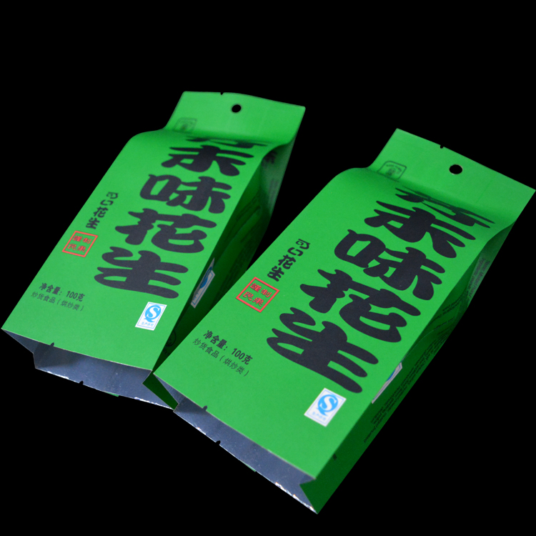 manufacturer green food pouch slogan paper bag