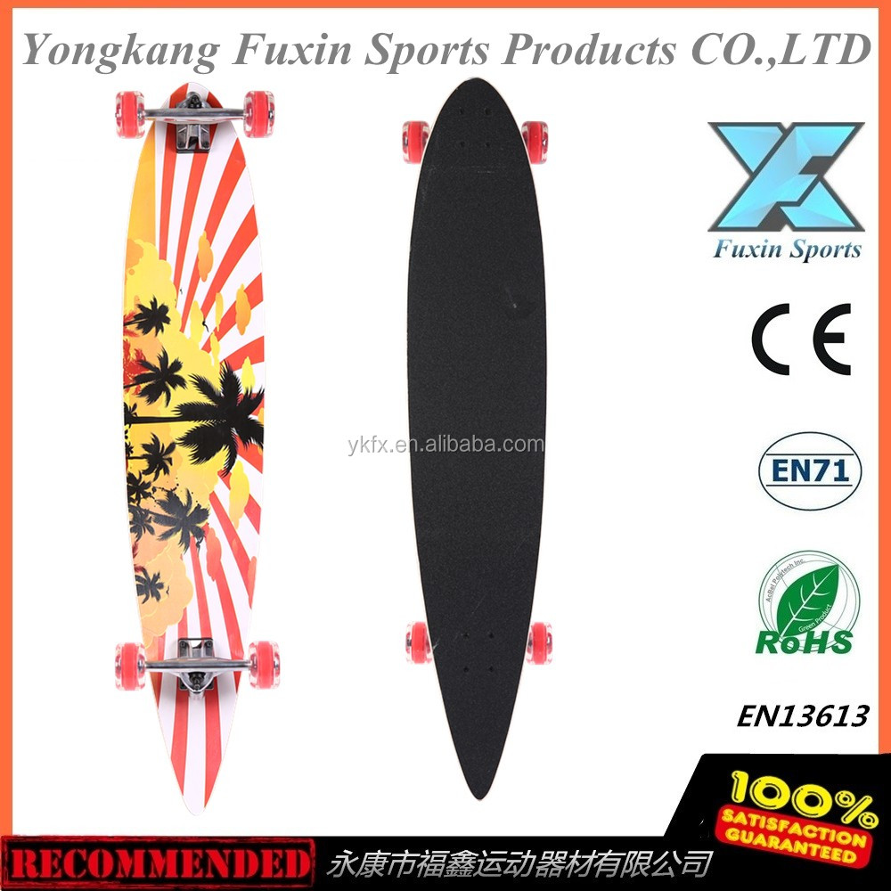 "2016 NEW 106.5 CM 42X9"" kicktail Board ABEC 11 Komplett Long board Skateboard"