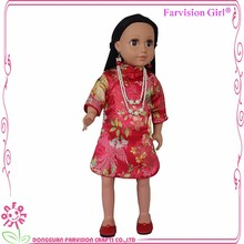 movable eyes vinyl 18 inch dolls wholesale with Chinese costume