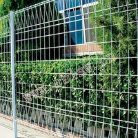 Galvanized welded wire fence panels for garden building