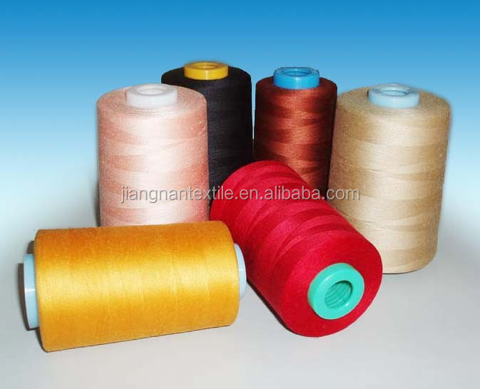 China supplier 100% polyester spun yarn/core spun polyester sewing thread for t shirt yarn/ girls party dresses