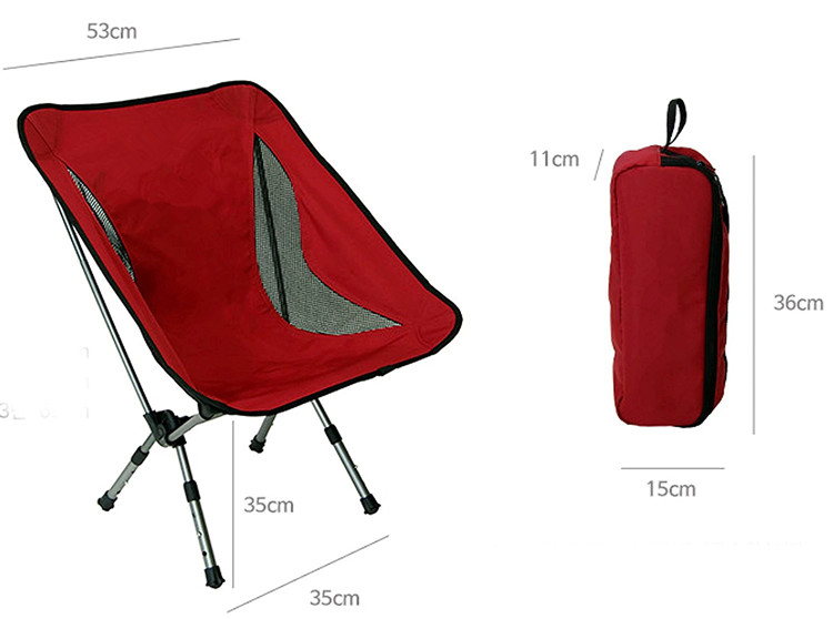 Portable Camping Chairs with Adjustable Height - Compact Ultralight Folding Backpacking Chair with a Carry Bag, Heavy Duty 135