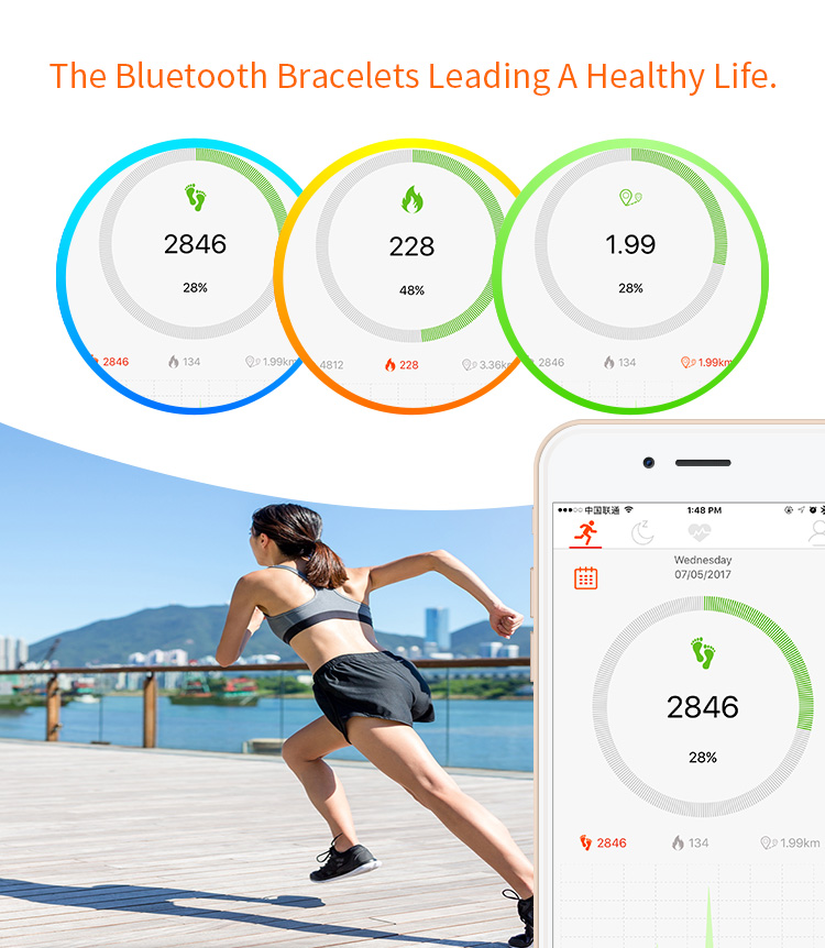 High Quality Fashion Design Wearable Heart Rate Monitor Band