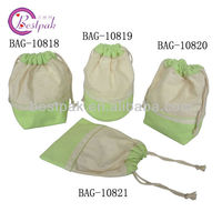 cotton canvas drawstring shoe bag