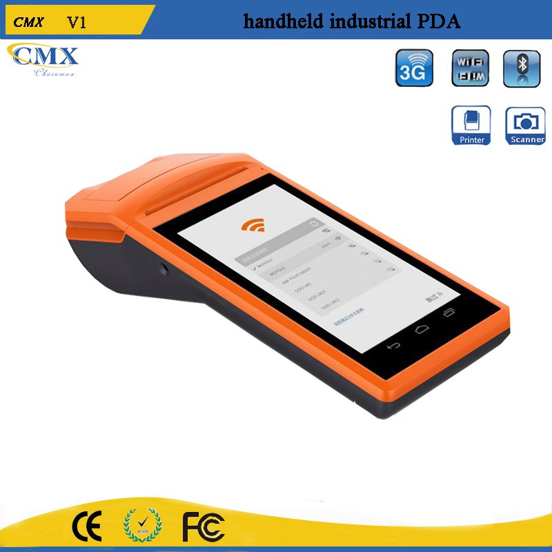 Programmable 3G mobile pos terminal handheld device with printer V1