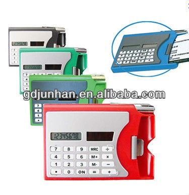 solar power 8 digital pocket calculator card case