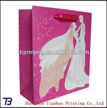 Custom printed woman hand paper bag 2014 designer