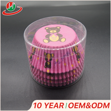 Manufactory Production cheap custom pvc plastic cup cake box cupcake container with paper cake cup