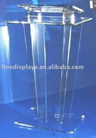 Clear Lucite Podium School lectern church lectern (AL-A-0099)