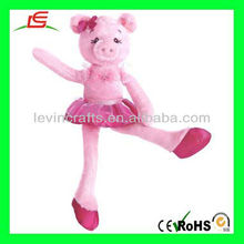 LE-D512 Cute Dancing Pink Plush Pig Doll Girls Gifts