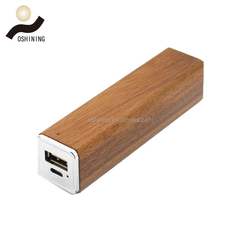 Cheap Wooden Power Bank 2600 Factory,external battery pack portable mobile power bank charger
