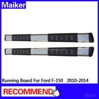 Black Aunminium Side step For Ford F-150 2010-2014 running board off road accessoires from maiker